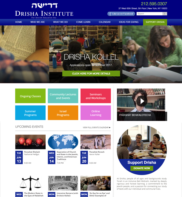 OUR WORK: welcome to site - drisha.org
