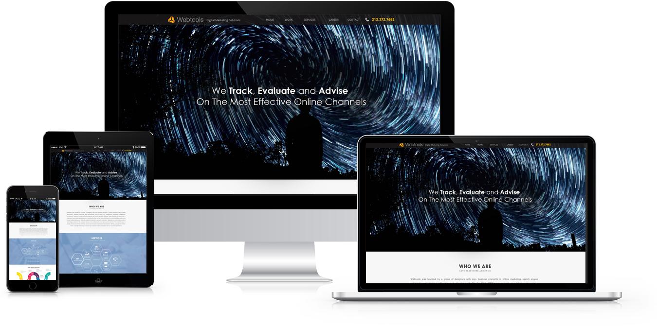 Webtools Services: addapted for Desktop, Laptop, Tablet, Mobile